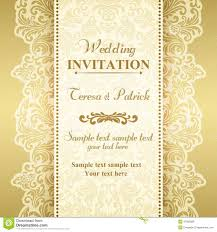 baroque wedding invitation gold and beige stock vector image