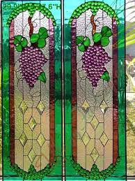 Stained Glass Kitchen Cabinet Doors by Beautiful Grapevine Stained Glass For Kitchen Cabinet Doors Or