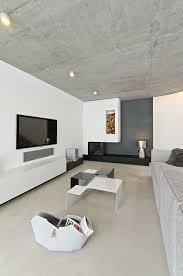 Concrete Ceiling Concrete Interior In Osice Czech Republic