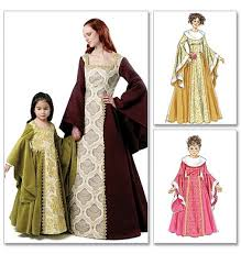Halloween Costume Patterns Babies Mccalls Sewing Pattern 6376 Girls Child Kids Medieval Dress Gown