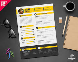 creative resume templates free download psd design logo 4 download creative resume template free psd psddaddy graphic design
