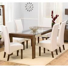 Large Glass Dining Tables Alba Large Chrome Clear Glass Dining Table Modenza Furniture With