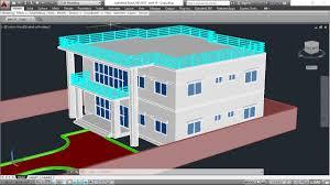 3d House Model Part 9 Autocad Basic 2d 3d Bangla Tutorials Plan Autocad 3d House Plans