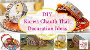 Navratri Decoration At Home Diy Karwa Chauth Thali Decoration Ideas K4 Craft