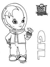 baby monster high coloring pages gil webber monster high doll