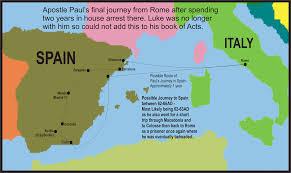 Cordoba World Map by Apostle Paul U0027s Four Journeys