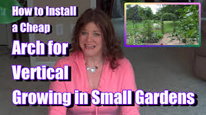 trellis how to install a cheap arch to maximize vertical growing