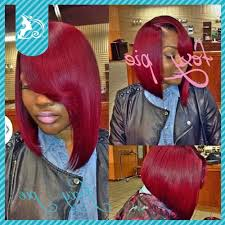 photo red bob hairstyles for black women foxy piered hair 100