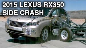 lexus minivan 2015 2015 lexus rx350 side crash test crashnet1 youtube