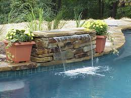 pool waterfall yard deco pinterest pool waterfall backyard