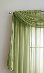 Green Sheer Curtains Warm Home Designs Green Window Scarf Valance Sheer