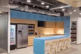 Office Kitchen Designs A Look Inside Pandora U0027s Sleek Boston Office Officelovin U0027
