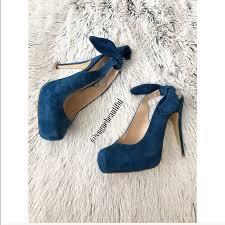 ribbon heels dolce vita shoes dolce vita suede blue ribbon heels poshmark