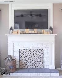 Fireplace Cover Up Remodelaholic 95 Ways To Hide Or Decorate Around The Tv