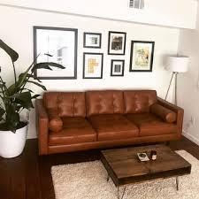 top product reviews for metropolitan leather caramel metro sofa