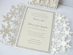 snowflake wedding invitations snowflake wedding invitations by
