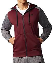 adidas mens tech fleece hooded training sweatshirt maroon grey 2xl
