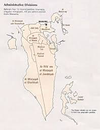 Bahrain Map Middle East by