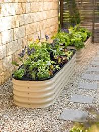 Galvanized Trough Planter by Corrugated Galvanized Metal Troughs Used As Massive Planters