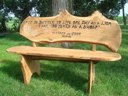 bench engraved bench a c covenant creations canby mn engraved