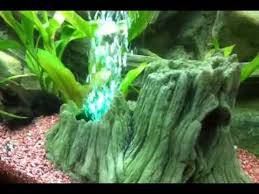 aquarium root with iluminated bubbles ornament with led light
