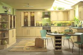 kitchen tree ideas green and yellow kitchen ideas with small tree and wooden cabinet