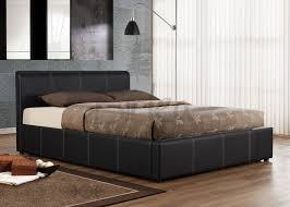 Ottoman Beds Reviews Ottoman Black Brown Or White Faux Leather Ottoman Bed In Sizes 3ft