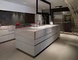 black and white tones red accent cellar kitchen island inox