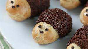 hedgehog cream puffs ft thewarpzone nerdy nummies youtube