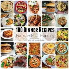List Of Easy Dinner Ideas Meal Planning Archives Operation 40k