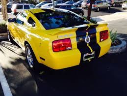 Yellow Mustang With Black Stripes 2007 Mustang Shelby Gt500 Yellow With Black Stripes One Of A Kind