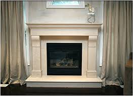 gas fireplace with caesarstone surround and flat screen tv as the