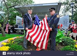 American Legion Flag American Legion Veteran And Ex Chief Holding American Flag At 9 11