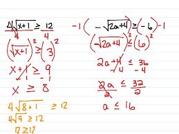 Radical Equations Worksheet Showme Solving Radical Inequalities
