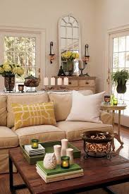 living room yellow and beige living room neutral brown couch