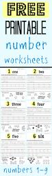 Number Worksheets Free Printable Number Worksheets 1 9 My Mommy Style