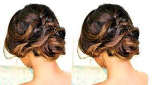 Easy Down Hairstyles For Medium Hair by Romantic Updo Hairstyle Hairstyles For Long Medium Hair Youtube