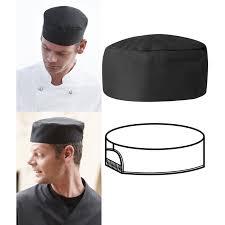 calot cuisine noir soufflet élastique le paquet de 3
