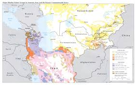 regional map of asia central asia major muslim ethnic groups regional map mappery