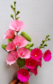 hollyhock flowers how to make paper flowers hollyhock mallows flower 62