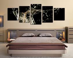 5 piece wall decor panoramic huge canvas print champagne multi 5 piece canvas wall art champagne multi panel canvas kitchen artwork bedroom wall