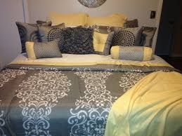 yellow gray color wall art canvas my and bedding home pinterest