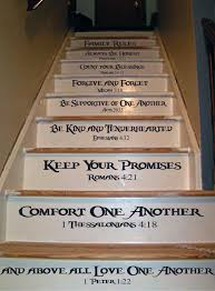 family rules stair decal trading phrases