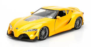 yellow toyota toyota ft 1 concept yellow jdm tuners 1 24 diecast model car by