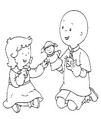 coloriage bébé et naissance enfant frere et soeur 22