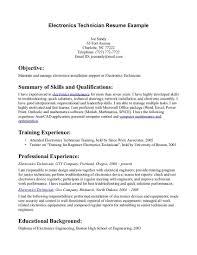 Electro Mechanical Technician Resume Sample Mechanical Assembler Resume Examples Resume Cover Letter Example