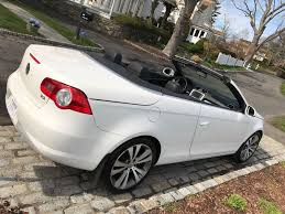 white convertible volkswagen 2008 volkswagen eos vr6 3 2l white convertible hardtop sunroof