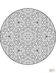 trippy mandala with stars coloring page free printable coloring