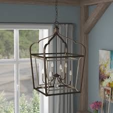 Foyer Pendant Light Fixtures Laurel Foundry Modern Farmhouse Evangeline 8 Light Foyer Pendant