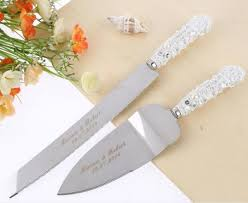 serving set wedding free shipping personalized wedding resin cake knife serving set